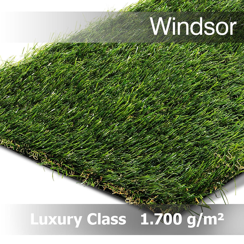 Windsor 20 m L/änge 1,33 x 200 cm Luxury Class bis max Zuschnitt Kunstrasen in 133 u 200 cm Breite