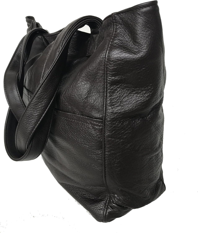 Bags Jessy Fgalaze Dark Brown Leather bag Handmade Totes Fashion Shoulder Handbag