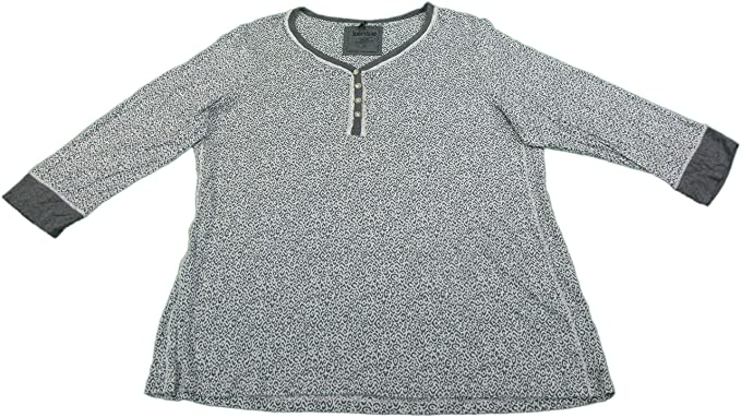 a738860329 Image Unavailable. Image not available for. Color  Kensie Womens 3 4 Sleeve  Pajama Top