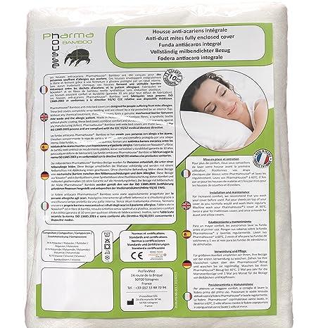 Funda antiácaros Bamboo integral para almohada - producto sanitario - Garantía de 10 años - Cubierta