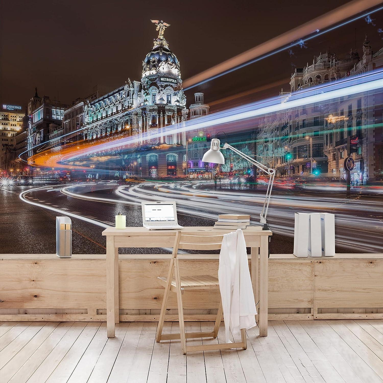 Amazon.com: Non-Woven Wallpaper Premium Madrid Traffic Wide ...