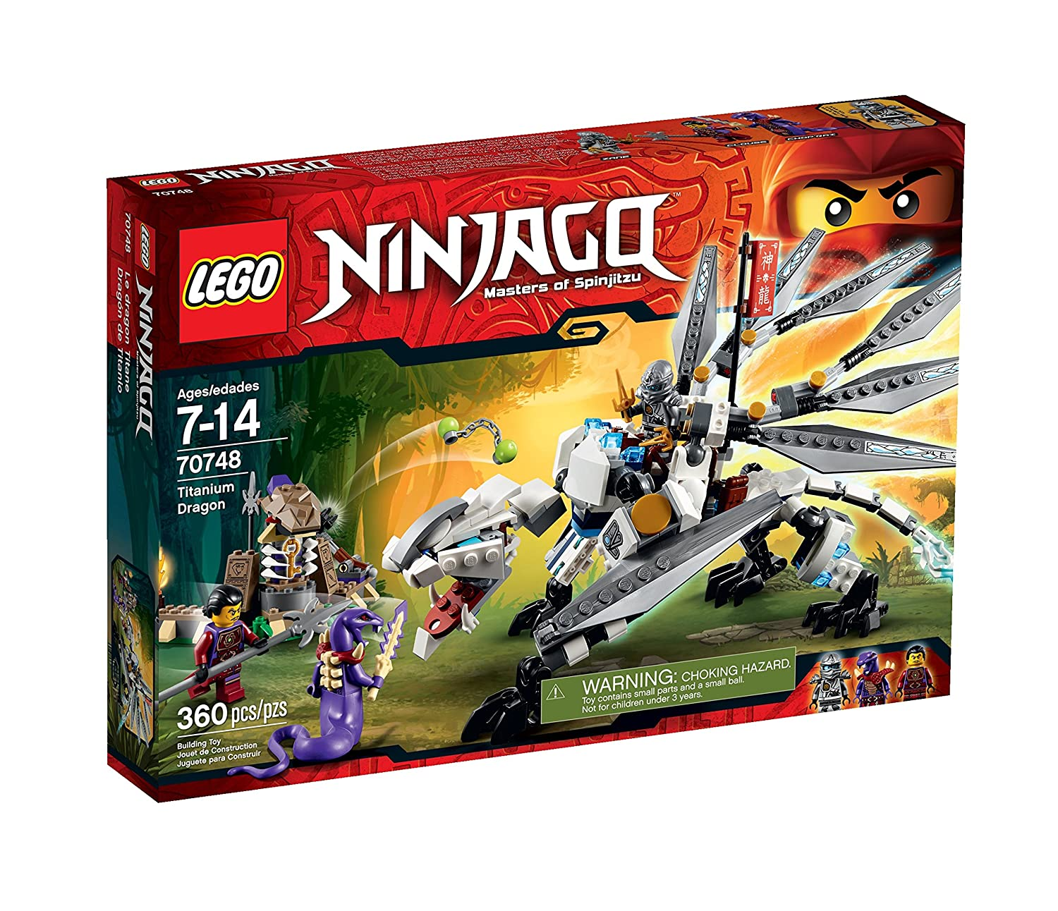 amazoncom lego ninjago titanium dragon toy discontinued by manufacturer toys games
