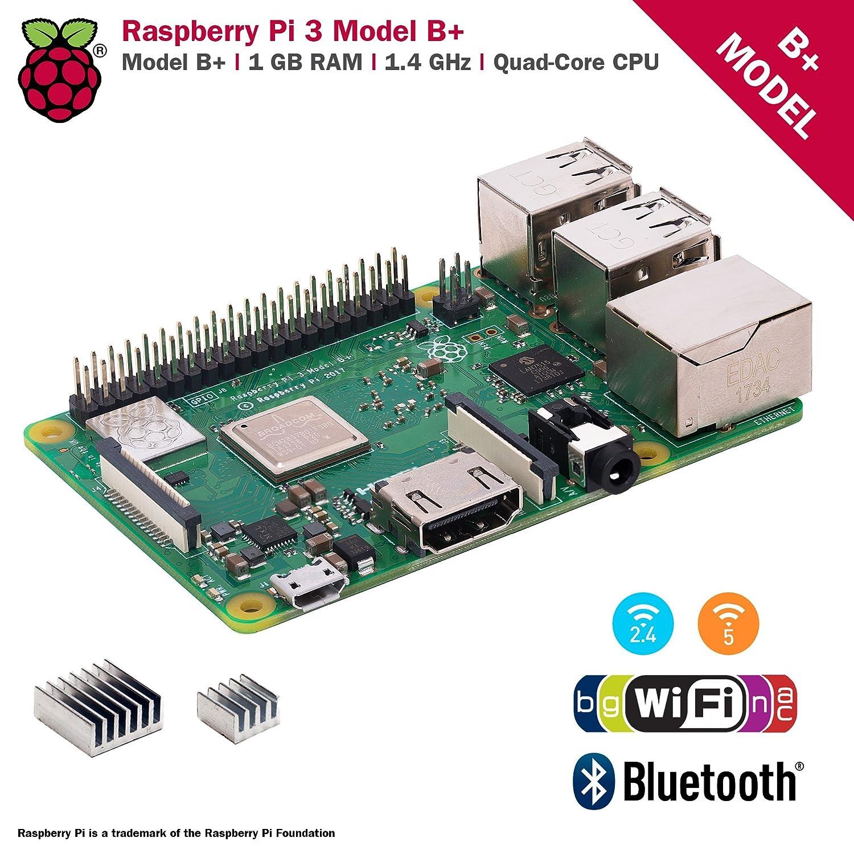 CanaKit Raspberry Pi 3 B+ (B Plus) with 2 5A Power Supply (UL Listed)