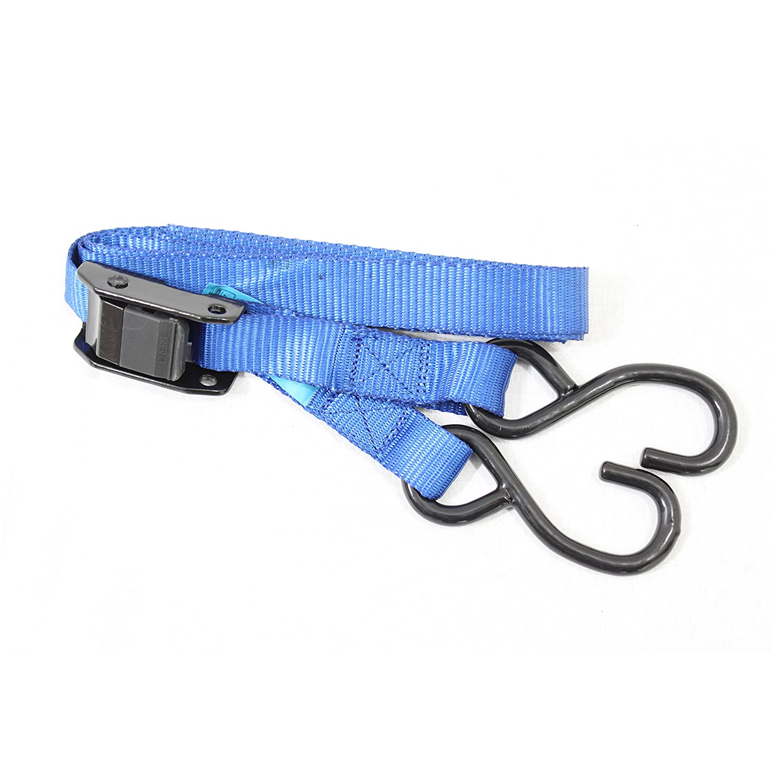 2x DynaSun FH45619 Cargo Load Lash Straps Cam Buckle Tie Down Luggage Quick Release 25mm 3m Lashing Claw J Hook