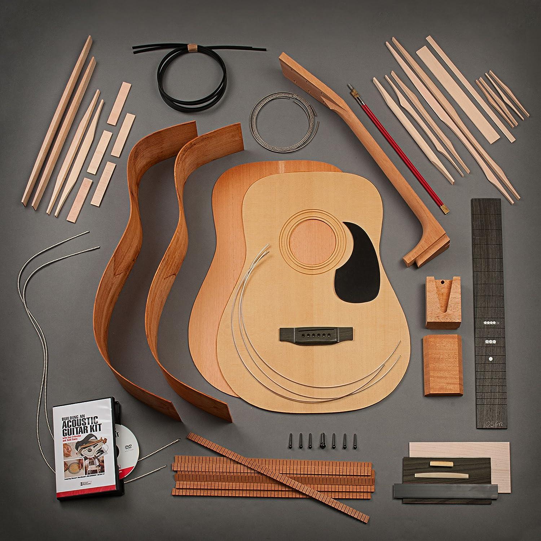 stewmac construir su propio Kit de guitarra acústica Dreadnought con cuello de cola, torrefied, madera de caoba parte trasera y laterales: Amazon.es: Instrumentos musicales