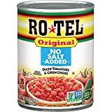 Ro-tel Original No Salt Added Diced Tomatoes & Green Chilies, 10 Ounce, 10 oz
