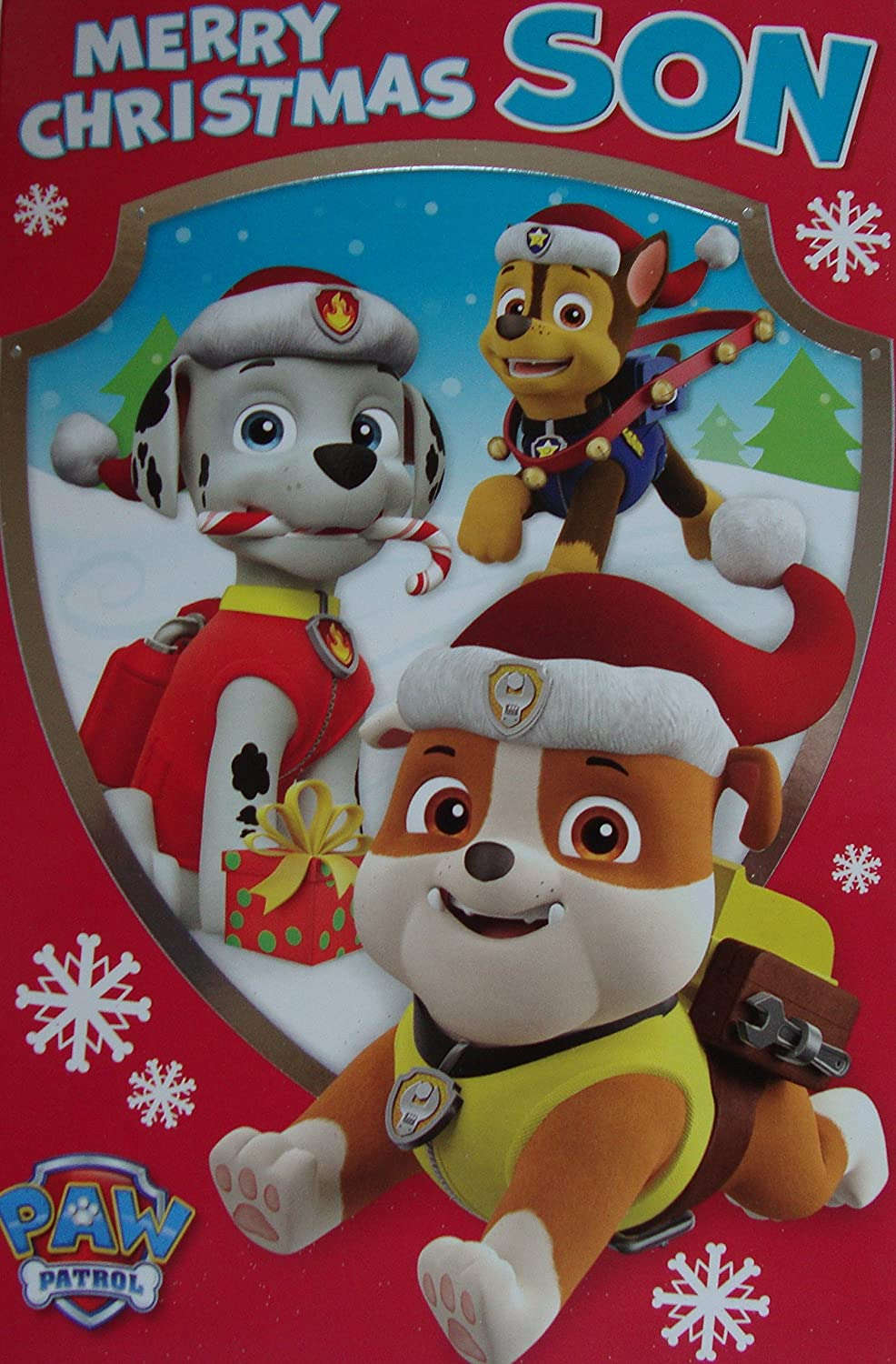 Amazon.com : Paw Patrol Son Christmas Card : Office Products