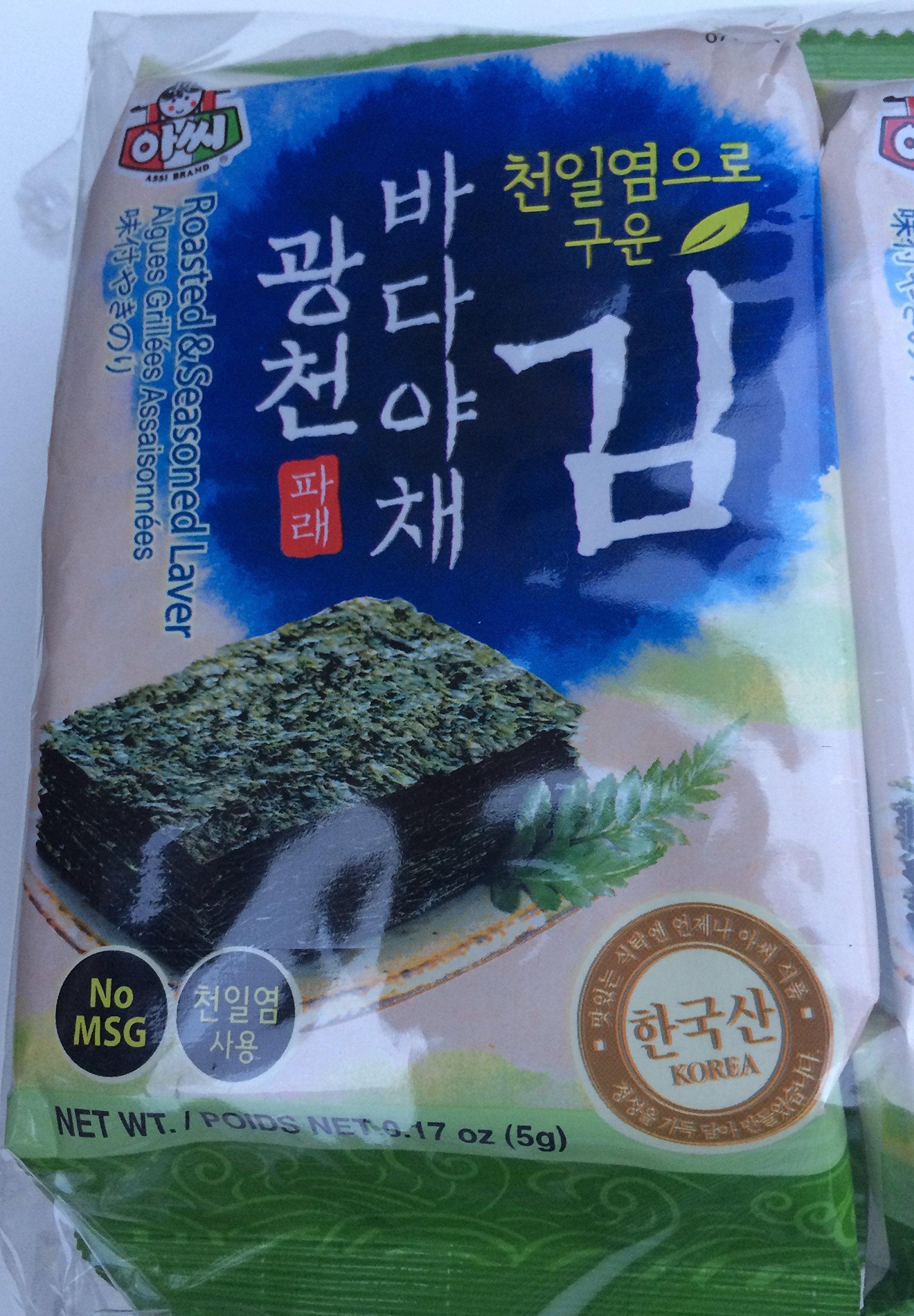 Roasted & Seasoned Seaweed (Laver) 0.17 oz - Pack of 10