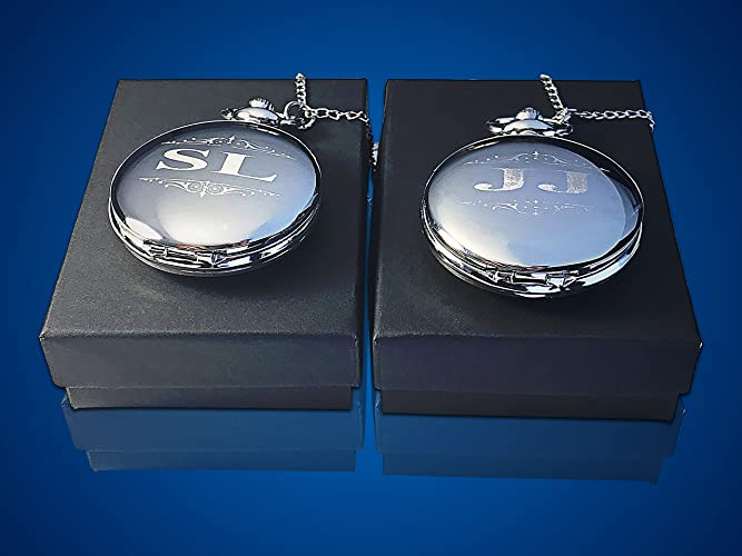 49a4e83d4 Image Unavailable. Image not available for. Color: 2 Personalized Pocket  watches ...