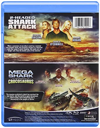 Amazon Com 2 Headed Shark Mega Shark Versus Crocosaurus Blu Ray Shark Double Feature Movies Tv