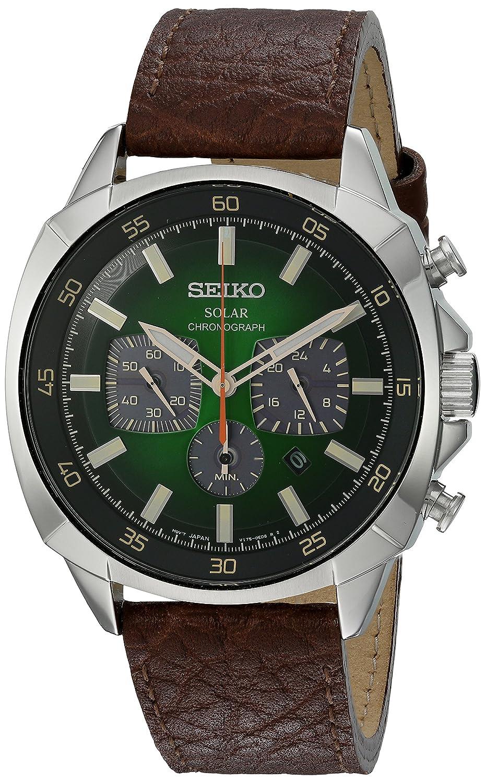 7fa6cd729 Mens Seiko Chronograph Solar Powered Watch SSC513P9: Amazon.co.uk: Watches
