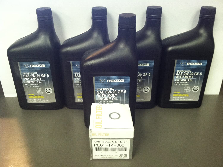 Mazda SKYACTIV 5-QT Full Synthetic Oil Change KIT W/Drain Plug Gasket