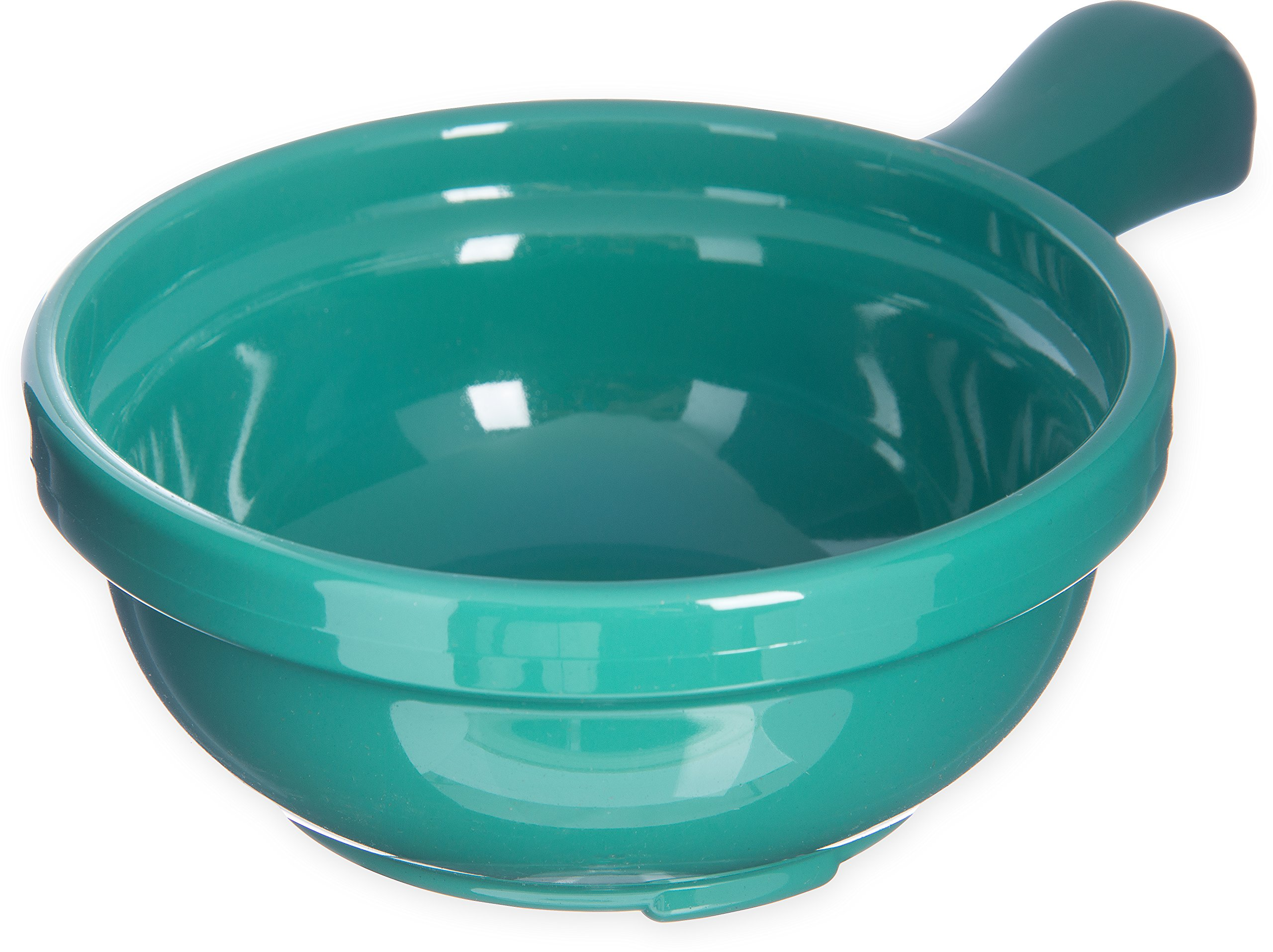Carlisle 700609 Plastic Handled Soup Bowl, 8 oz., Meadow Green (Pack of 24)