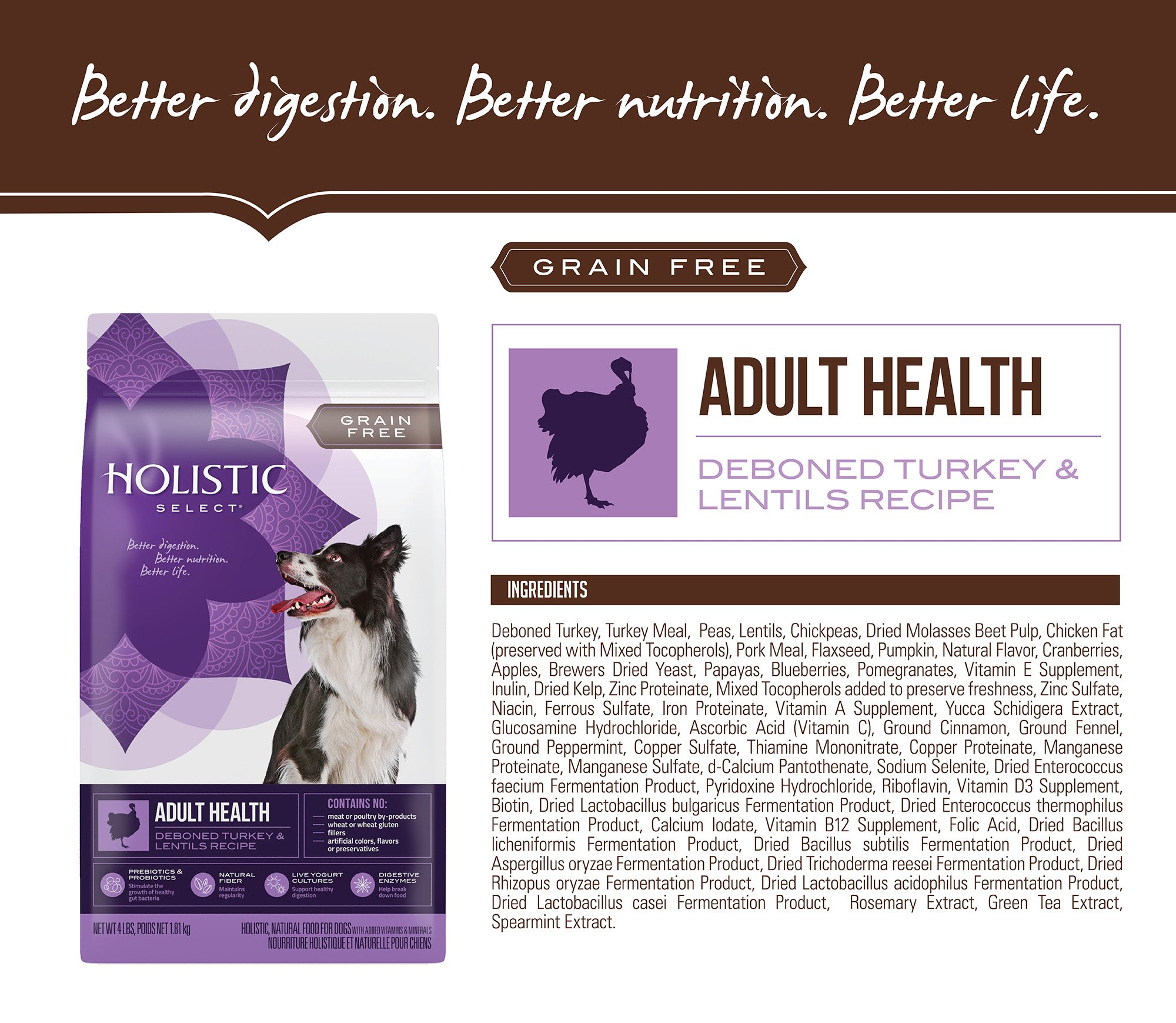 Holistic Select Natural Dry Dog Food Ingredients