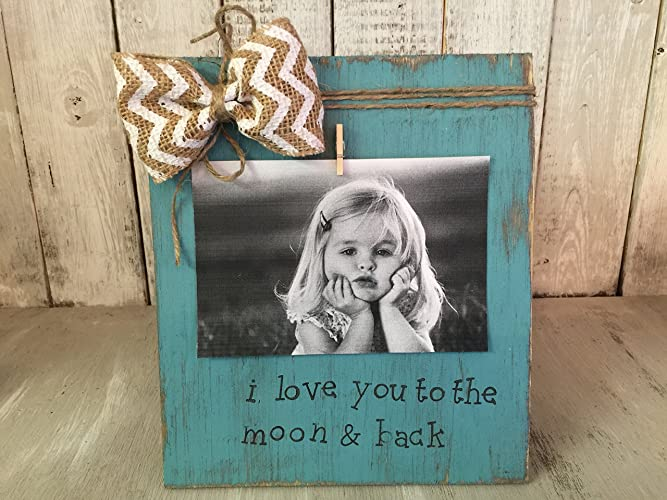 Amazon.com: Personalized Picture Frame Board, I Love You to the Moon ...