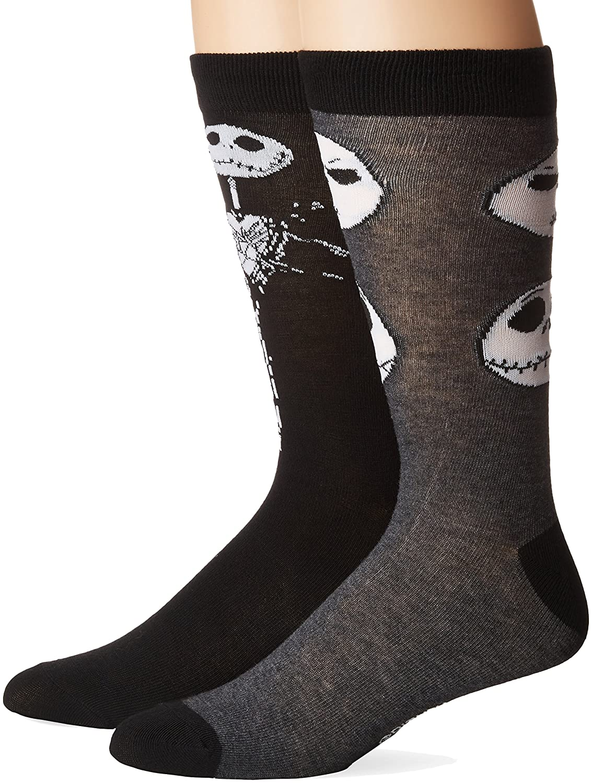 Disney Men's Nightmare Before Christmas 2 Pack Crew Socks 880319