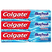 Deals on 3-Pack Colgate Max Fresh Toothpaste w/Mini Breath Strips 7.6 Oz