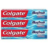 3-Pack Colgate Max Fresh Toothpaste w/Mini Breath Strips 7.6 Oz