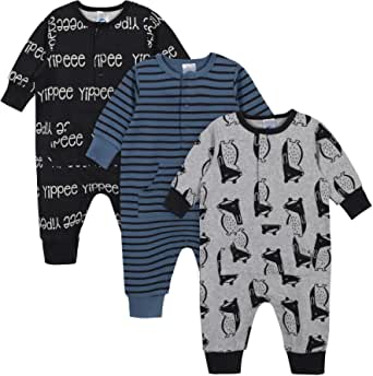 Grow by Gerber Baby Boys Organic 3-Pack Coverall Set
