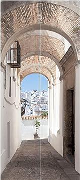 Papel pintado para puerta – mediterránea Vejer de la frontera en España – Puerta Mural, Dimensión HxW: 215 x 96 – 0.00: Amazon.es: Bricolaje y herramientas