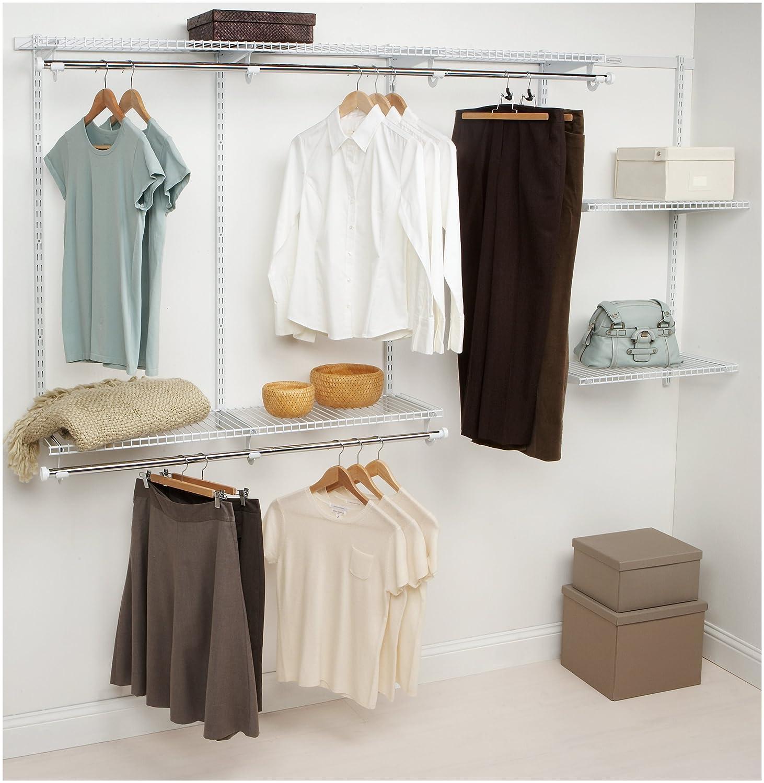 Amazon.com: Rubbermaid Configurations Closet Kits, 4-8 ft., White ...