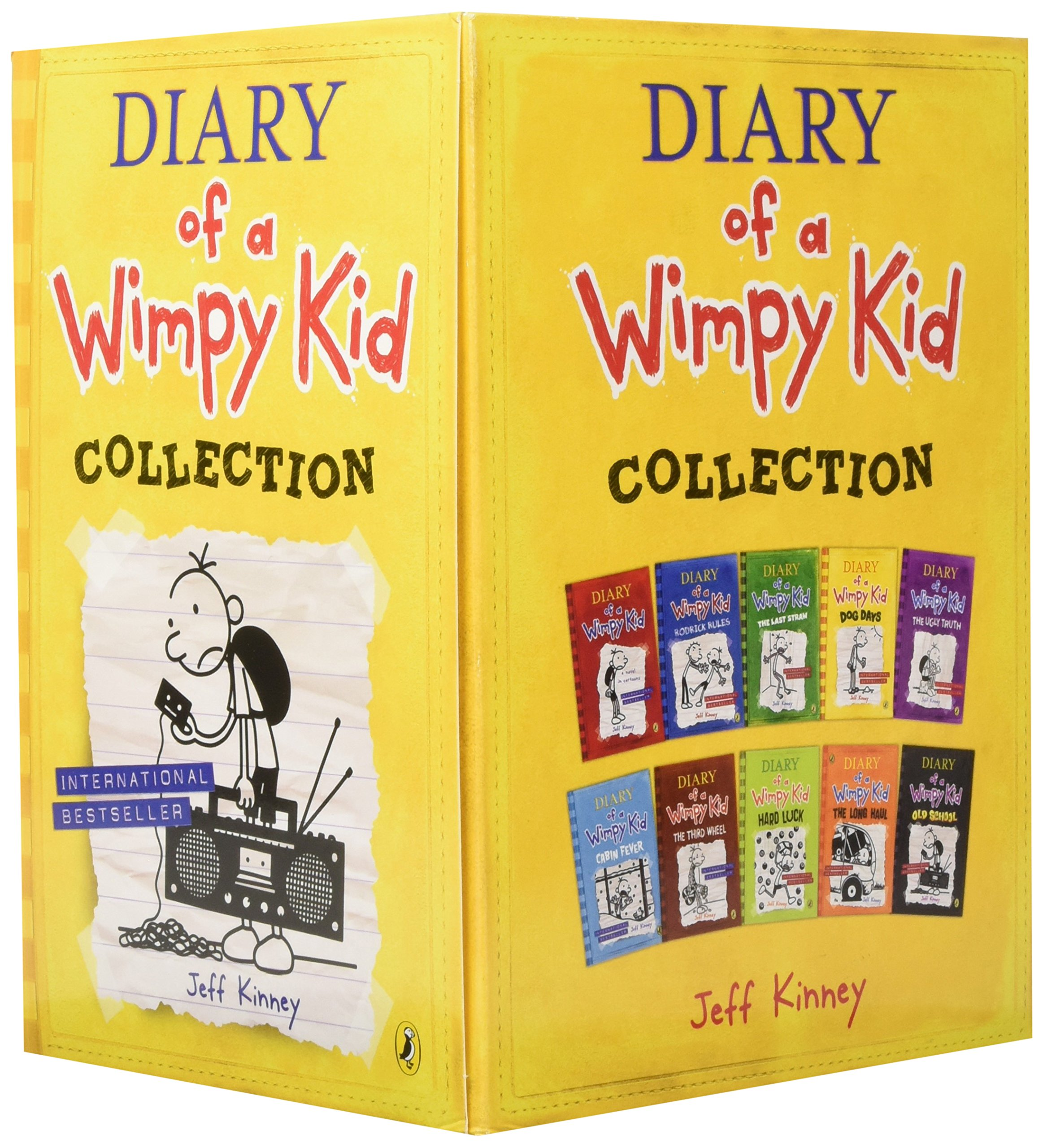 Diary of a Wimpy Kid Collection (Set of 10) by Puffin (Image #2)