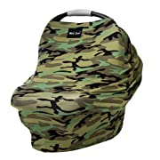 AS SEEN ON Shark Tank The Original Milk Snob Infant Car Seat Cover and Nursing Cover Multi-Use 360° Coverage Breathable Stretchy Camo