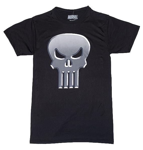 1fbacdab4 Marvel Avengers Punisher Skull Logo Polyester T-shirt Mens Black Small