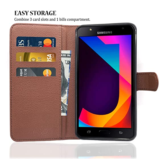Amazon.com: Samsung Galaxy J7 Neo/Nxt Case Wallet Brown, Samsung J7 Leather Case, Dekii Slim Soft PU Leather Flip Cover with Card Slots, Magnetic Closure ...