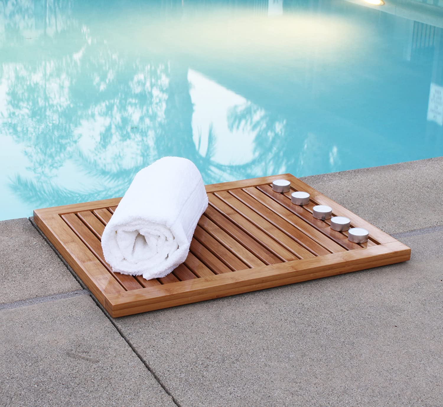 Amazon.com: Oceanstar FM1163 Bamboo Floor and Shower Mat: Home & Kitchen