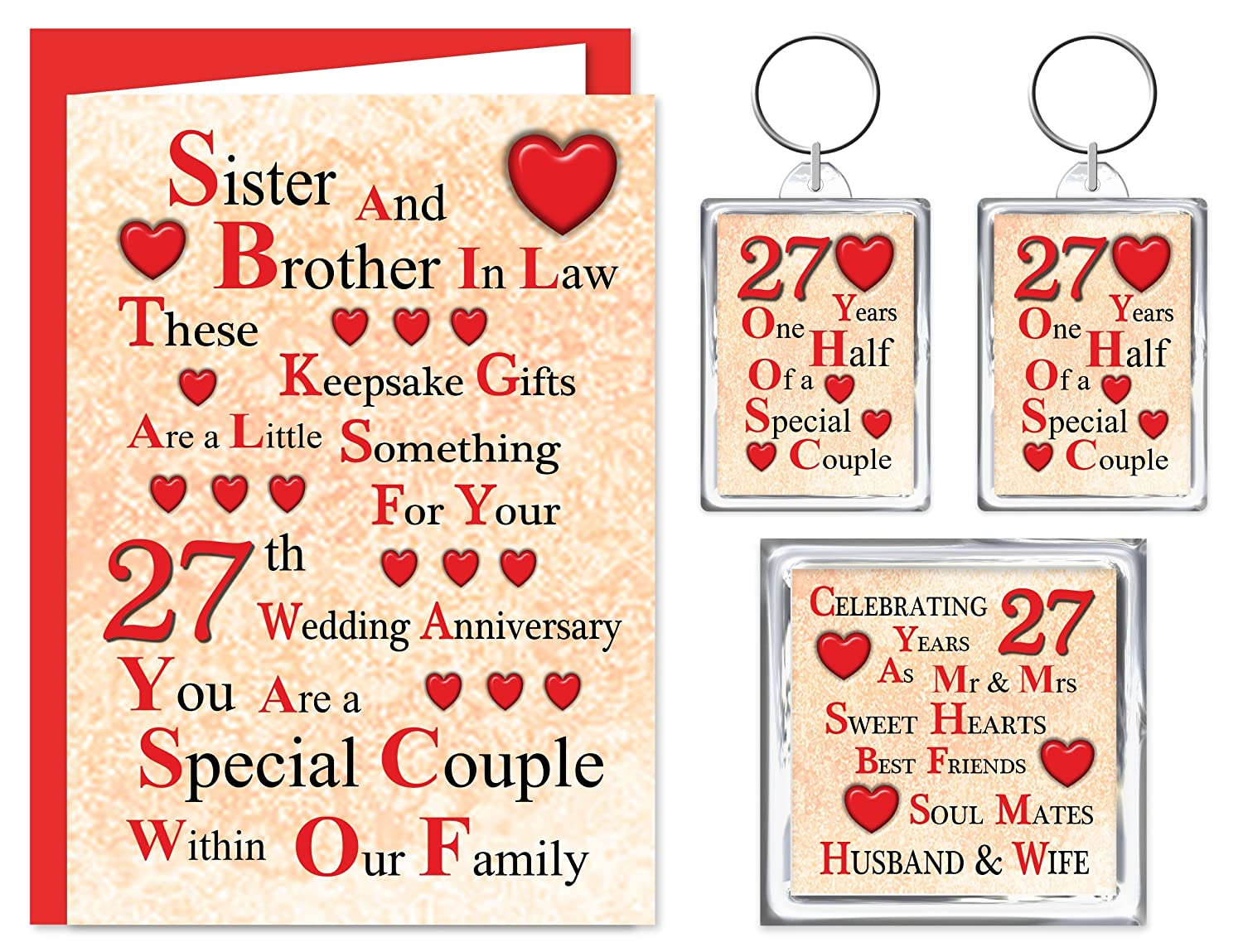 Wedding Gifts For Sister And Brother In Law: Unique Anniversary Gift For Sister And Brother In Law