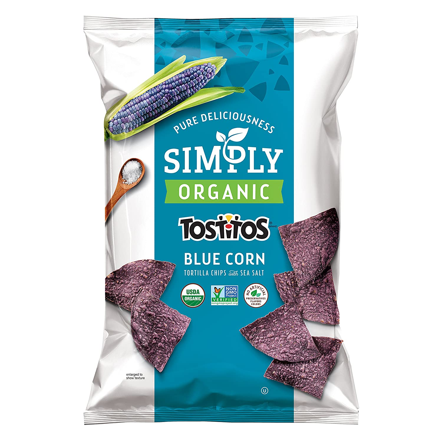 Tostitos Simply Organic Corn Tortilla Chips, Blue, 8.25 Ounce