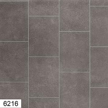 6216 Nicole 4 Mm Thick Premium Grey Tile Effect Anti Slip Vinyl