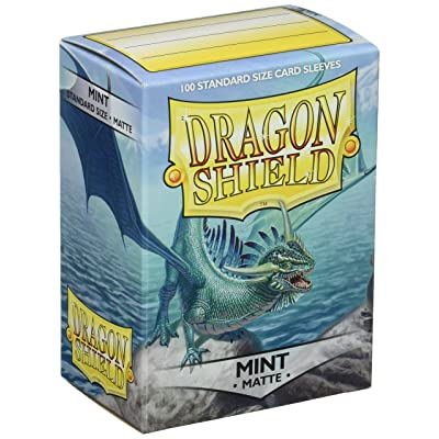 Dragon Shield Deck Protective Sleeves for Gaming Cards, Standard Size (100 sleeves), Matte Mint - AT-11025: Toys & Games