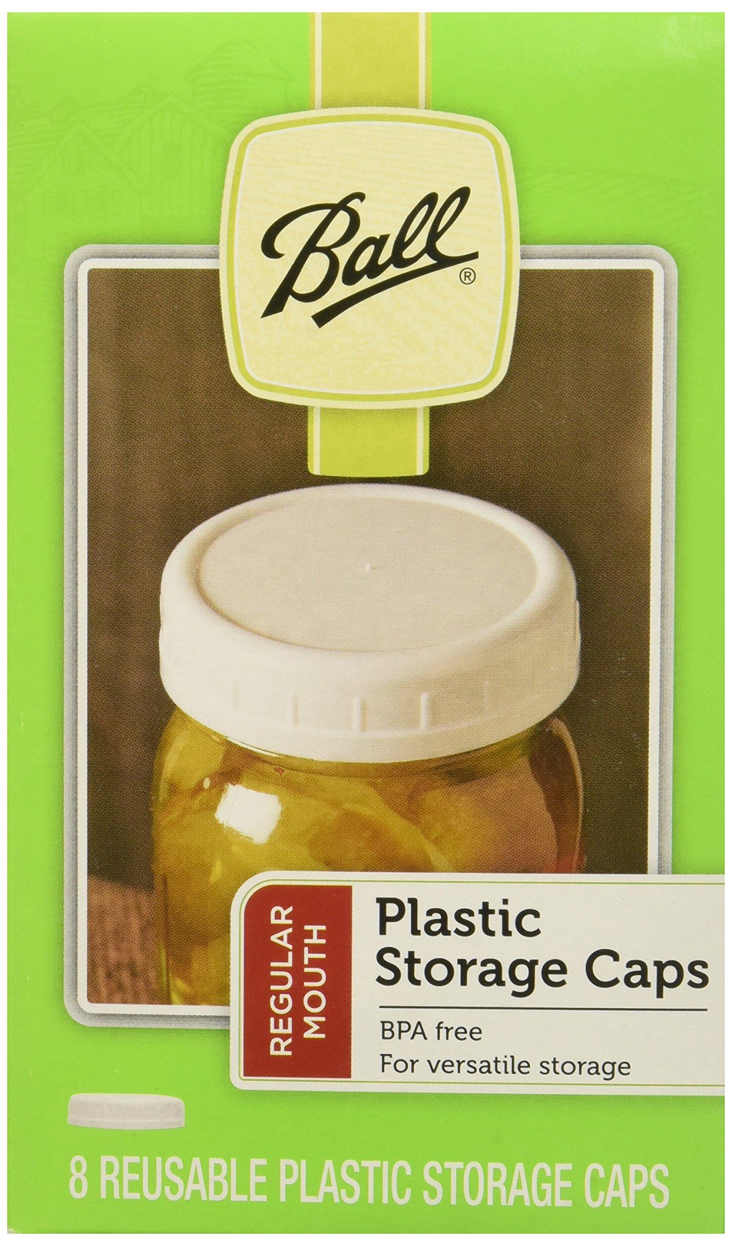 Ball Regular Mouth Jar Storage Caps Set of 8 (Regular x2) by Ball