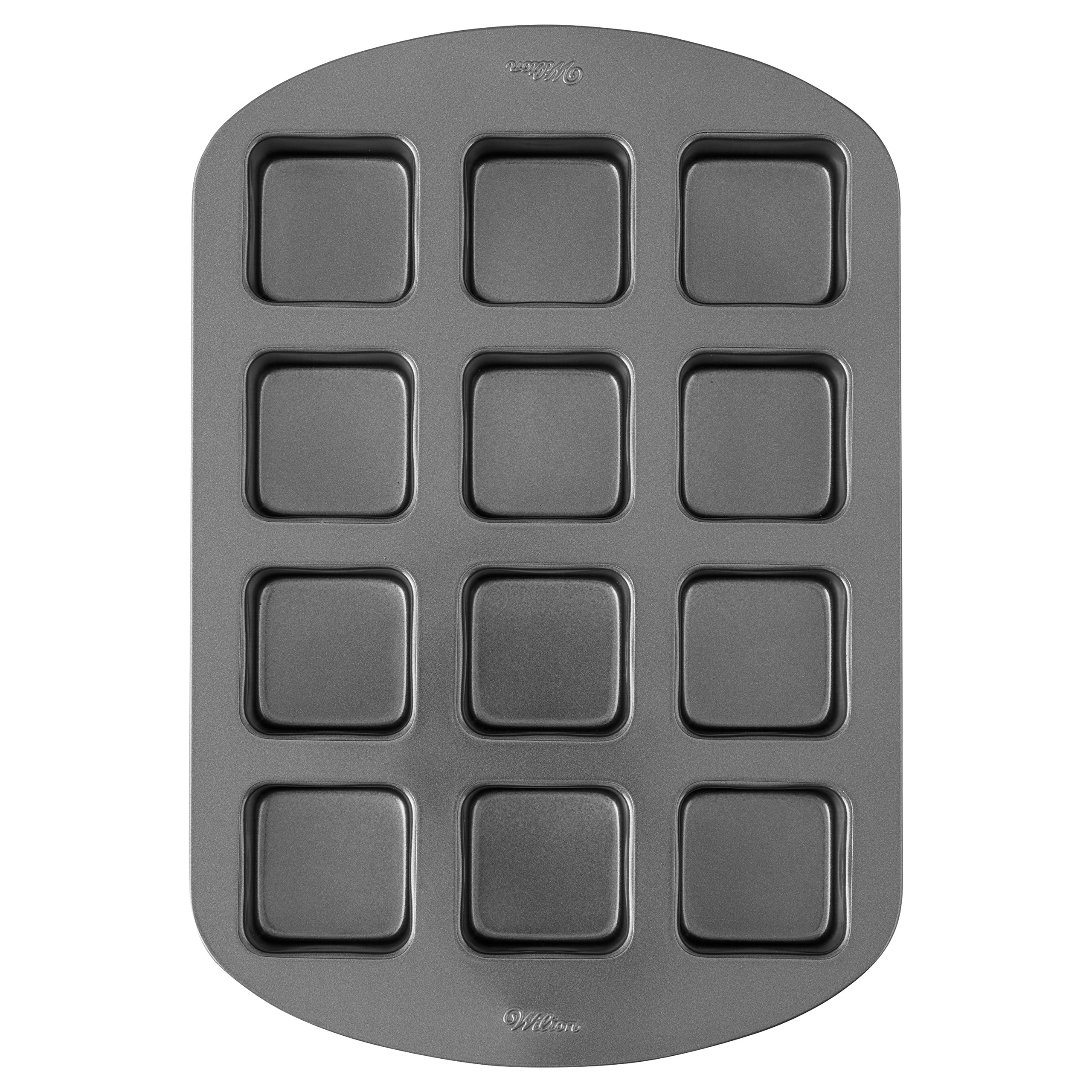 Wilton Perfect Results Premium Non-Stick Bakeware Brownie Bar Baking Pan, 12-Cavity