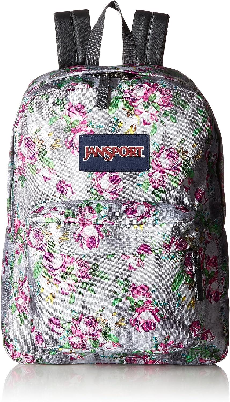 JanSport Unisex SuperBreak Multi Concrete Floral Backpack