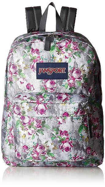 76a11cbd7618 JanSport Superbreak Polyester 25 Ltrs Multi Concrete Floral School Backpack  (JS00T5010KL)  Amazon.in  Bags