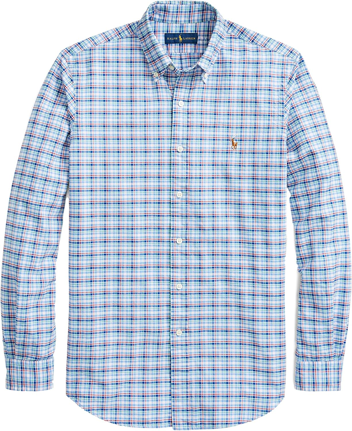 Polo Ralph Lauren Mens Big Tall Plaid Long Sleeve Shirt