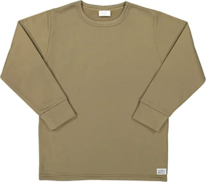 Amazon.com  Men s Cold Weather Fleece-Lined Crew Neck Thermal ECWCS  Undershirt Top with Pin  Clothing 68b691bdca8