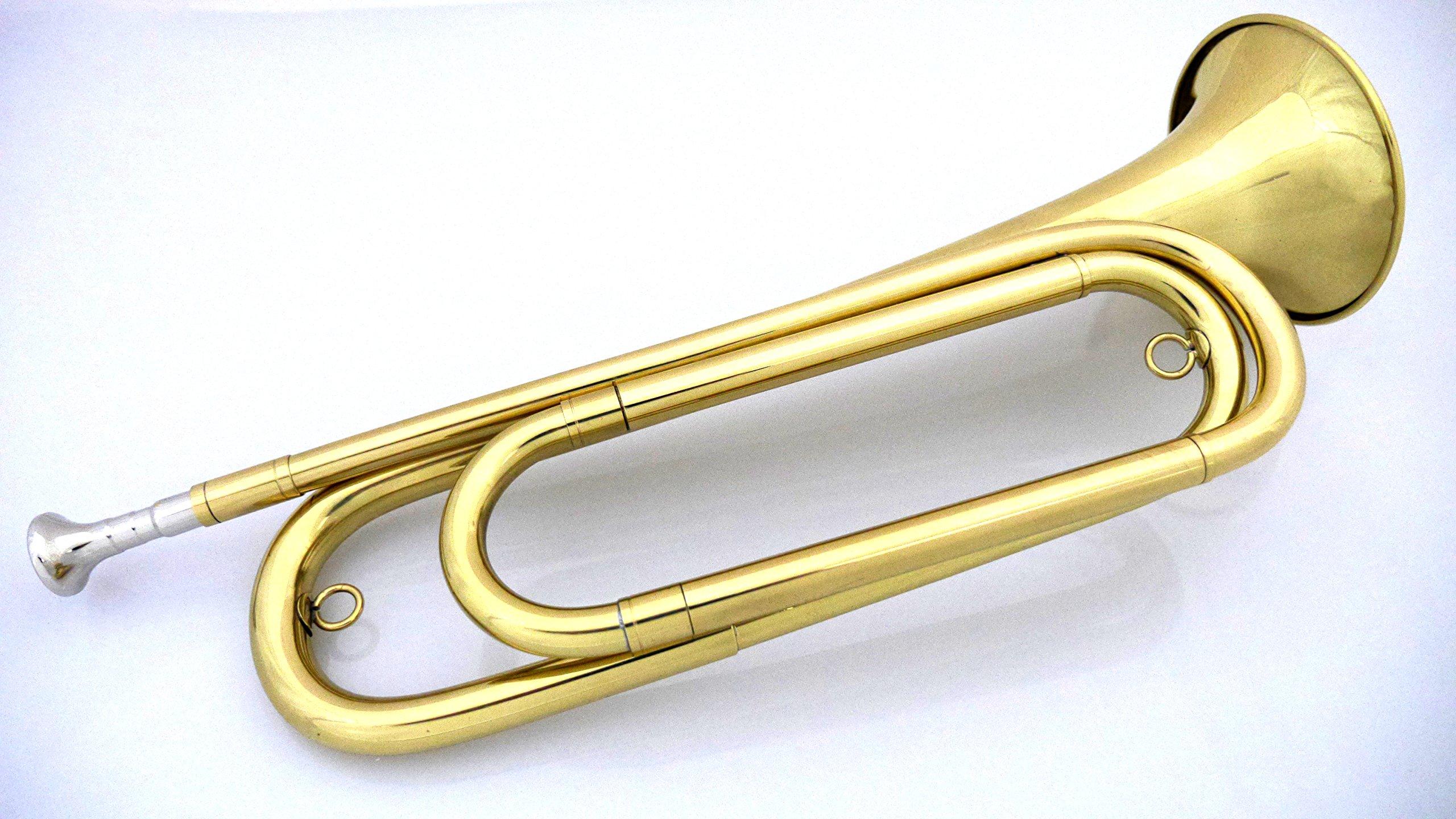 U.S. Regulation Bugle Brass Lacquer w/Mouthpiece and Bag by U.S. Regulation Bugle