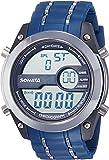 Sonata Superfibre Digital Grey Dial Men's Watch -NH77034PP03