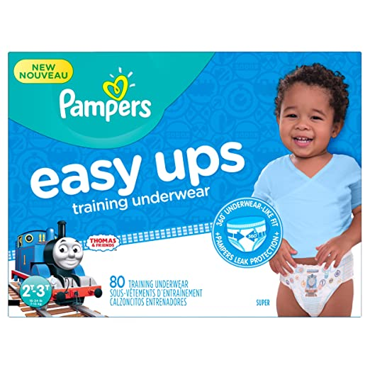 Pampers Boys Easy Ups Training Underwear, 2T-3T (Size 4), 80 Count