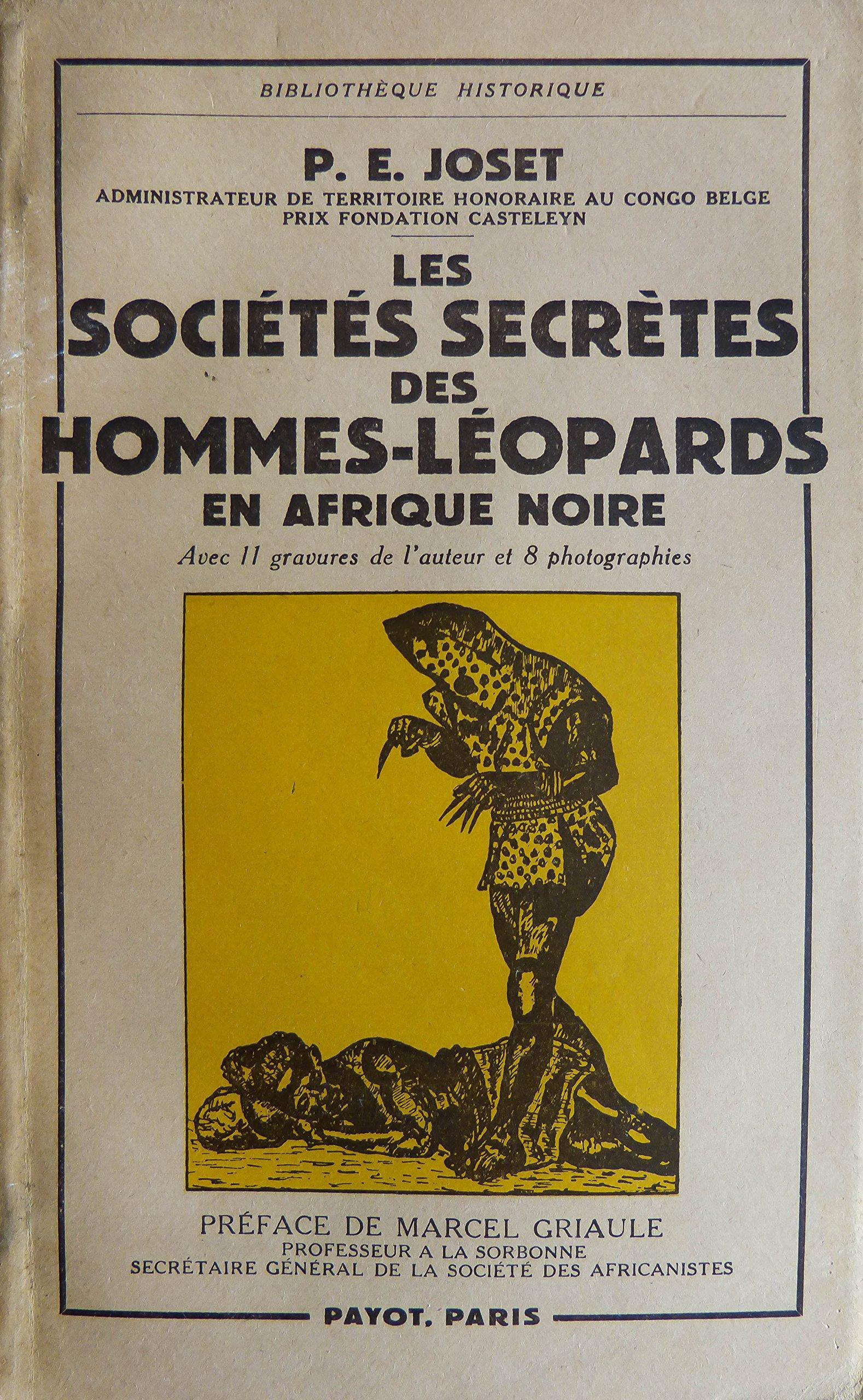 Amazon.fr - Les Sociétés Secrètes Des hommes-Léopards En Afrique Noir - -  Livres