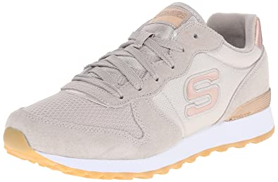 Skechers Originals Women's Retros OG 85 Golden Girl Nylon Quarter Lace up  Fashion Sneaker,Taupe
