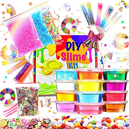 Amazon.com: Kiddosland Kit para fabricar tus propios Slime ...