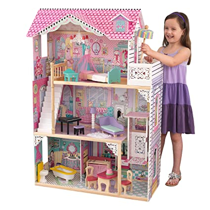 Amazon Com Kidkraft Annabelle Dollhouse With Furniture Toys Games