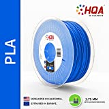 HQA PLA+ 3D Printer Filament, Blue, 1.75MM, 1KG Spool, [100% USA NatureWorks 4043D]