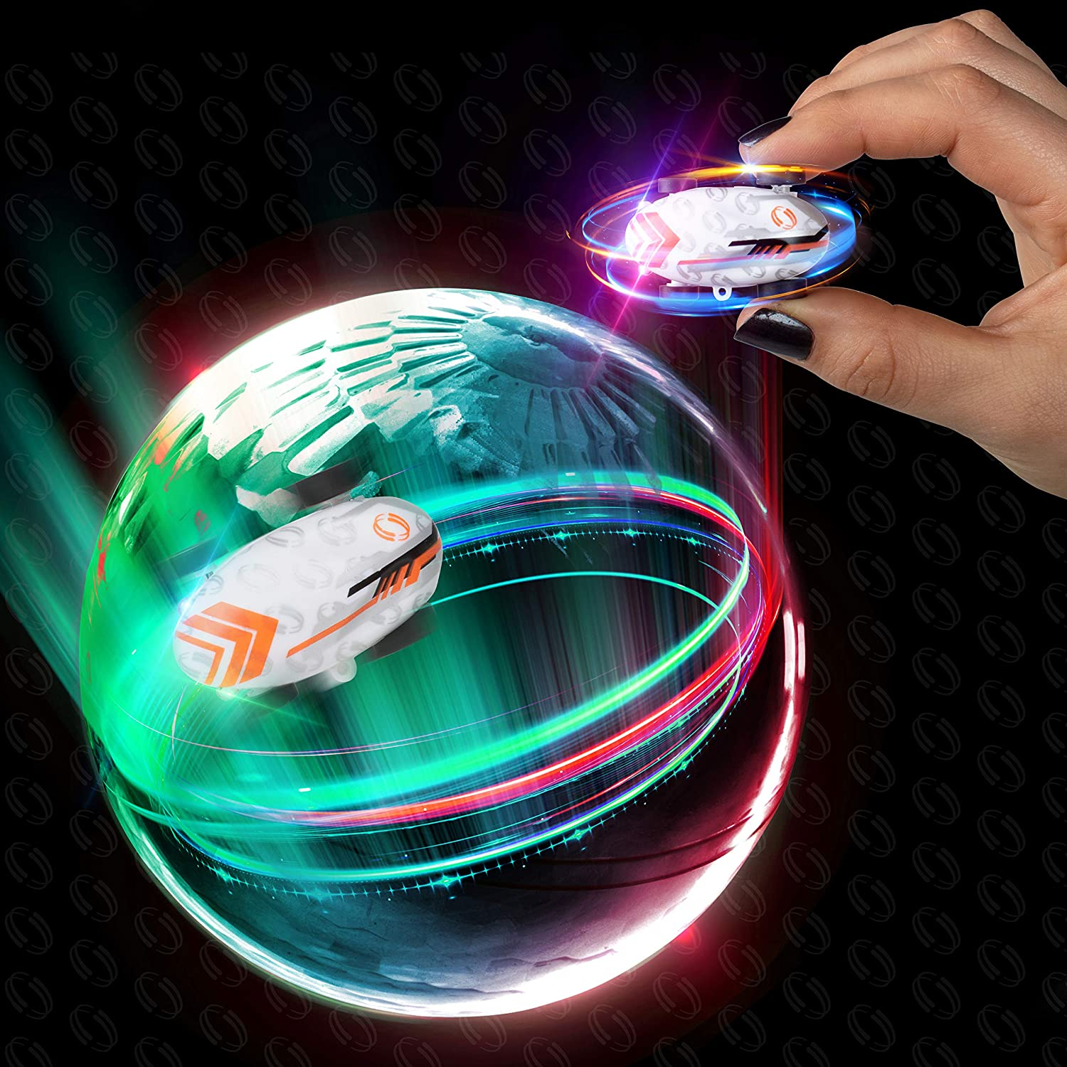 USA Toyz Micro Racer Mini Toy Cars - Whipz Pocket Racer Light Up Toys with Keychain and Stunt Car Ball, Micro LED Spinners Cars Toys for Kids, Boys or Girls