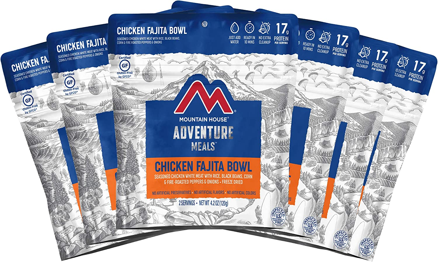 Mountain House Chicken Fajita Bowl | Freeze Dried Backpacking & Camping Food | Survival & Emergency Food | Gluten-Free